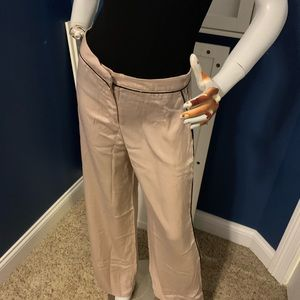High Waisted Wide Leg Satin Pants NWT M